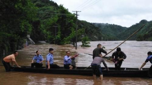 湖南泸溪遭强降雨袭击 发生山体滑坡致3人死亡