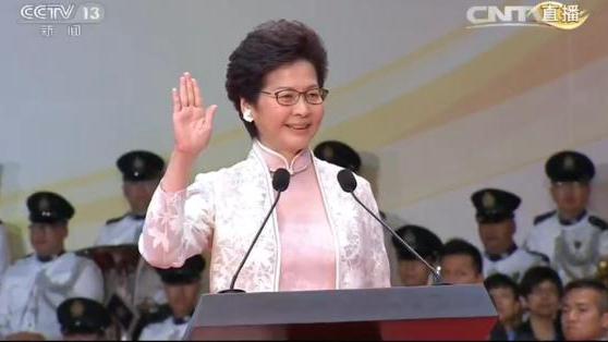 由习近平监誓 香港特别行政区第五任行政长官林郑月娥宣誓就职