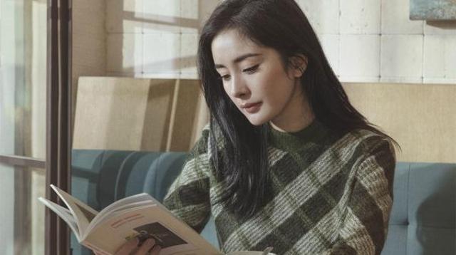 文艺青年杨幂上线!低头看书安静美好