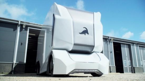 瑞典公司无驾驶室电动卡车 造型前卫科幻