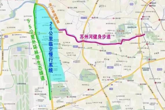 长宁5.5公里生态绿道的9座贯通桥
