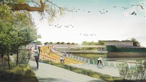 浦江东岸将架12座慢行桥 预计年底前陆续完工