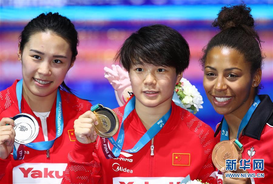 施廷懋与王涵包揽女子三米板冠亚军