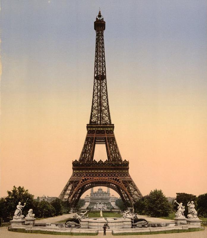 老照片现百年前法国风景名胜
