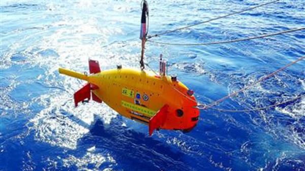 """""""大黄鱼""""下水 """"探索""""号水下机器人在南海首次试验性应用"""