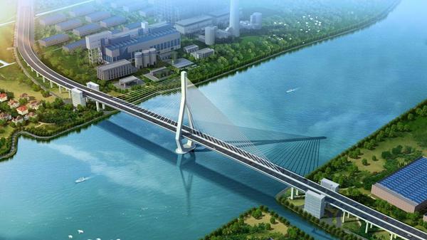 黄浦江又一座特大桥昆阳路越江大桥主桥开始施工 预计2020年通车
