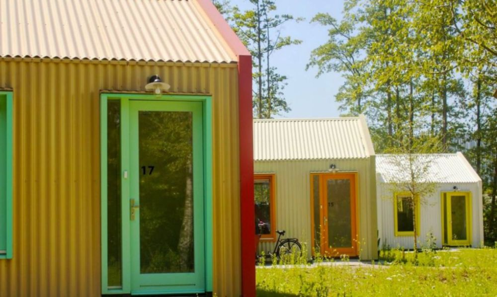 """荷兰郊外建太阳能村 林中""""阳光屋""""供心理疾病者居住"""