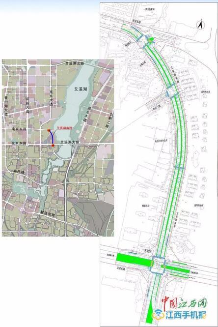 南昌将启动艾溪湖南路建设工程 全长约845米定位城市次干路