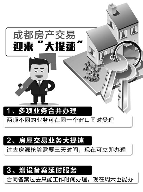 8月成都房管局推三类房产交易新举措 优化交易流程