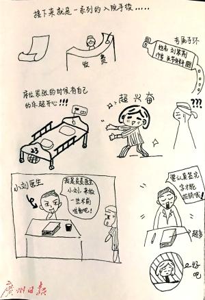 女生手绘漫画谢医护 医生:收到的最好礼物