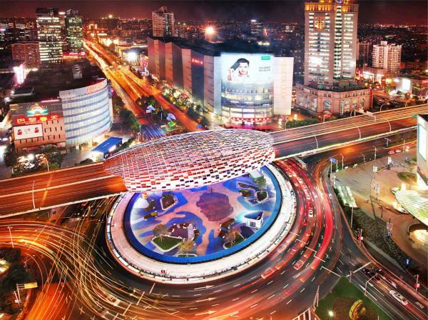 阅读上海100胜 55 | 五角星辉  环岛衔巨蛋  学林通五路