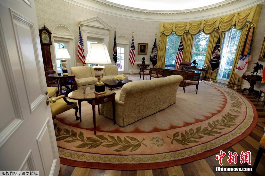 白宫装修后内部照曝光焕然一新富丽堂皇