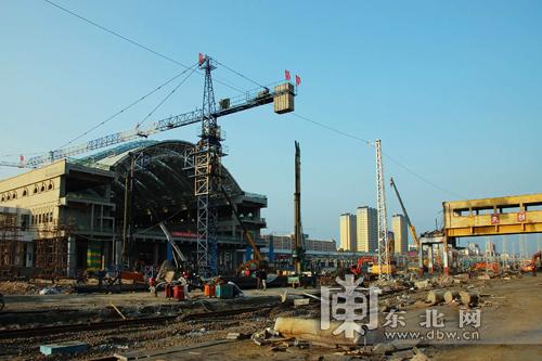 新建牡丹江站普速场高架站房开工建设 主体工程年底完工