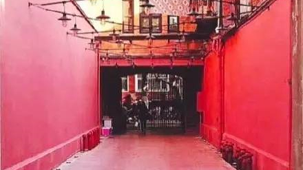上海居然有条超好看的粉色弄堂
