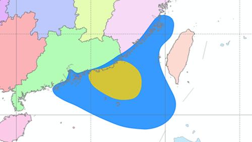 """台风黄色预警:""""玛娃""""今天下午至晚上将登陆广东沿海"""