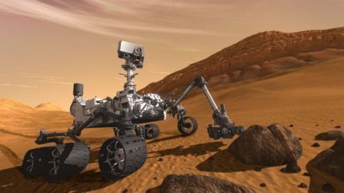 火星探测车好奇号。(图片来源:<a href='http://search.xinmin.cn/?q=NASA' target='_blank' class='keywordsSearch'>NASA</a>)