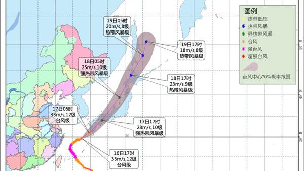"""""""泰利""""强度缓慢减弱 苏浙沪沿海等地仍需防范大风"""
