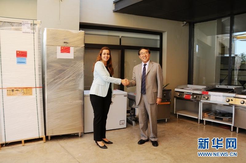 中国驻约旦使馆向约旦河基金会捐助物资