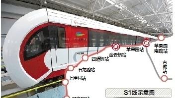 北京首条磁悬浮线路将试运行 最高时速100公里
