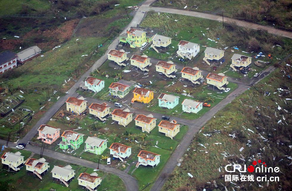 航拍多米尼加飓风灾区 房屋遭掀盖(高清组图)