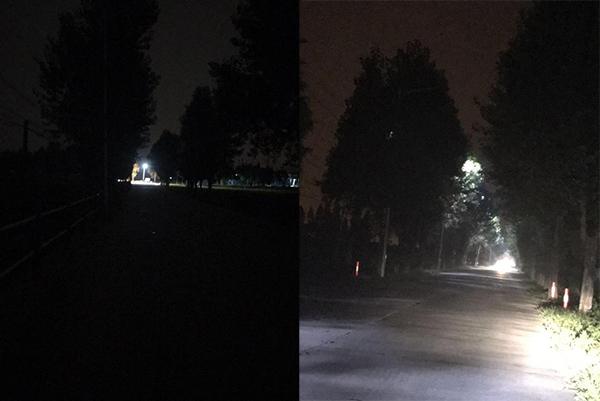"""萬楓公路旁路燈患上間歇性""""失明癥"""" 記者聯系后目前路燈已恢復照明"""