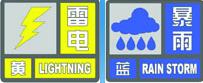 筒子们注意!申城暴雨蓝色预警、雷电黄色预警刚刚发布