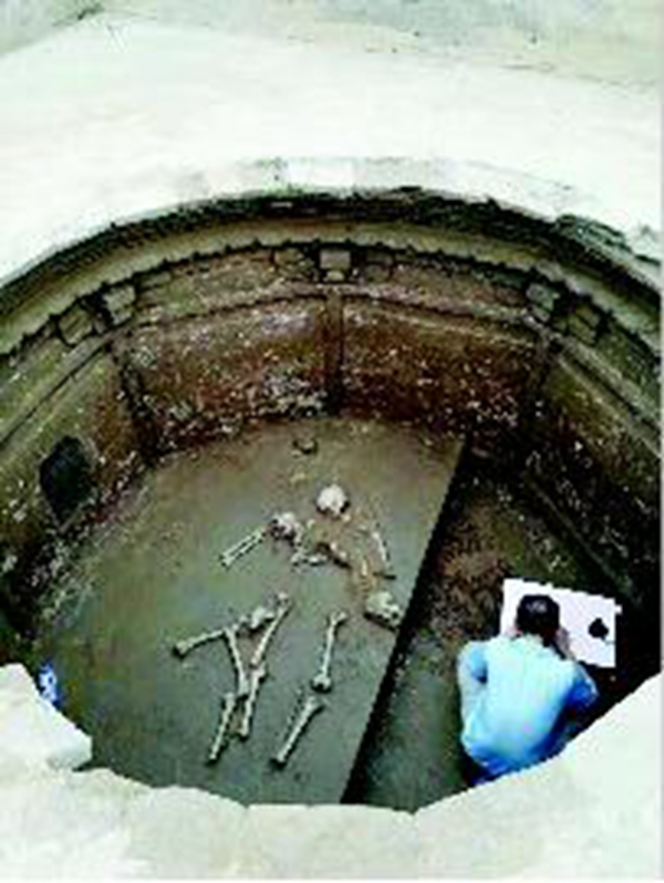 太原师范学院旧址现两处古墓 一处疑似明墓