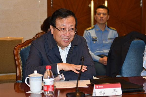 北京大学党委书记郝平发言-余红春摄
