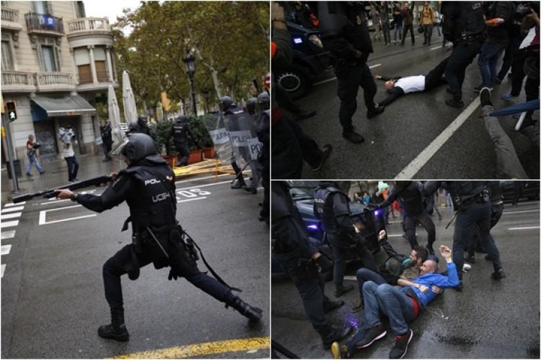 加泰独立公投引冲突 警方清场致300多人受伤