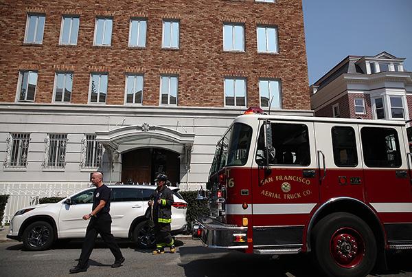 """美方否认""""侵入""""俄驻旧金山领事馆:只是对建筑进行检查"""