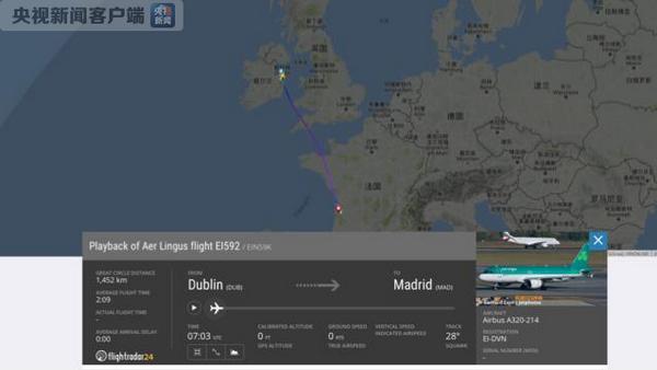 突发 | 一架从爱尔兰飞往西班牙的航班遭遇紧急情况
