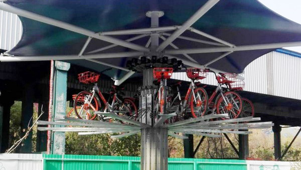 听说共享单车停车难? 这家公司直接研发了三款单车立体车库