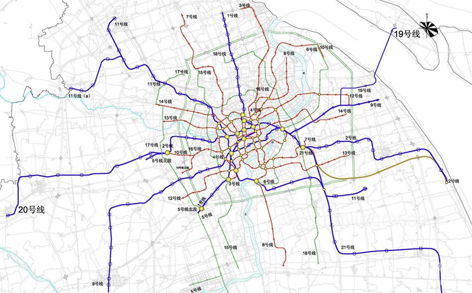 最新地铁规划 2020年16号线竟然只到上海动物园,以南是远; 上海地铁