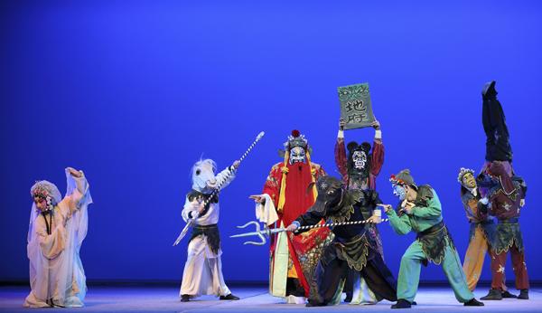 牡丹亭:吴双(中红色官衣)、罗晨雪(左).JPG