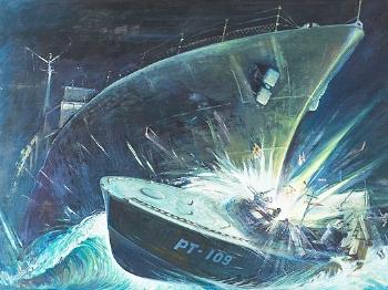 """【战例】美国第35任总统肯尼迪的""""鱼雷艇历险"""""""