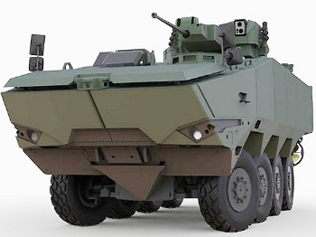 """【兵器】澳大利亚""""哨兵-2""""轮式装甲车亮相"""