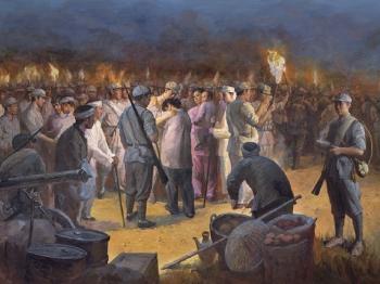 庆祝建党95周年纪念长征胜利80周年上海美术作品大展开幕