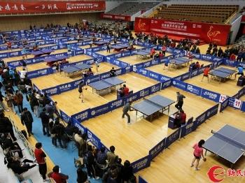 """2017新民晚报""""红双喜""""杯迎新春乒乓球公开赛开拍"""