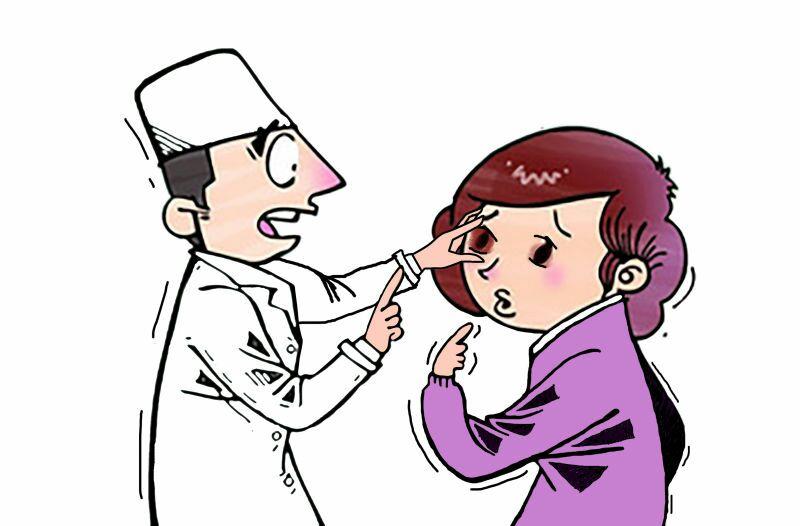 女白领眼病误当偏头痛险失明 专家:过劳诱发急性闭角型青光眼可致失明